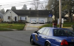 Skinner family home is seen following the stabbings (WWJ Photo)