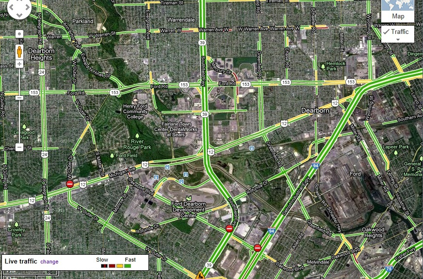 Google Maps Expands Live Traffic Feature for Eight Michigan Cities ...