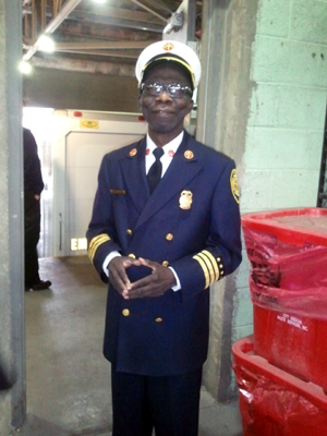 DFD Chief  and warehouse superintendent Nathaniel Tobi. (credit: WWJ/Mike Campbell).