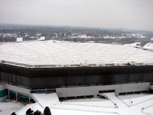 Silverdome Roof Deflated Ahead Of Renovations Cbs Detroit