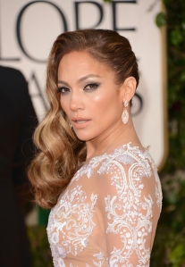 BEVERLY HILLS, CA - JANUARY 13:  Actress Jennifer Lopez arrives at the 70th Annual Golden Globe Awards held at The Beverly Hilton Hotel on January 13, 2013 in Beverly Hills, California.  (Photo by Jason Merritt/Getty Images)