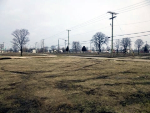 Cleared land at St. Aubin near Gratiot on Detroit's eastside. (credit: WWJ/Pat Sweeting)