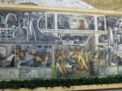 An iconic work by Mexican artist Diego Rivera, depicting Detroit industry. At the DIA. (credit: Pat Sweeting/WWJ)