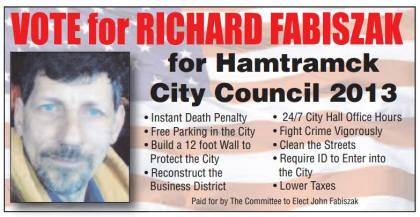 This graphic outlining Richard Fabiszak has been circulating on the Internet. (Facebook photo)