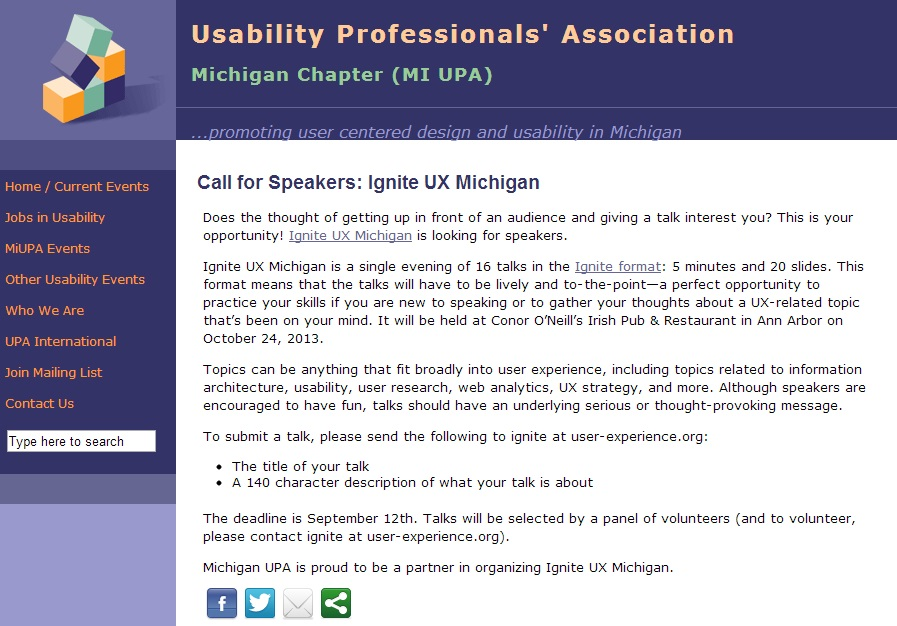 Call For Speakers At Ignite Ux Michigan Cbs Detroit