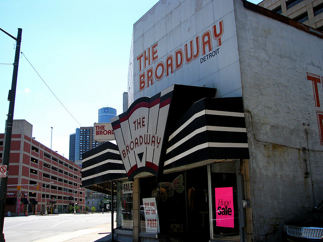 The Broadway clothing store