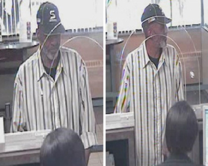 A suspected ID thief is seen in surveillance images. (credit: Department of Homeland Security)