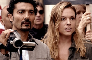 Khaled Nabwy and Agnes Bruckner in a Film Still from THE CITIZEN.  Courtesy, monterey media.