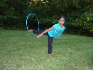 Mridula Shanker spins a hula hoop right into the records book. (Shanker family photo)