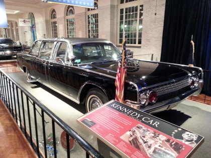 The actual car President Kennedy was riding in when he was assassinated is on display at the Henry Ford Museum. (Credit: John Hewett/WWJ Newsradio 950)