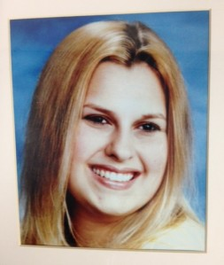 Chelsea Small is seen in a photo displayed during a Crime Stoppers press conference.  (credit: Mike Campbell / WWJ)