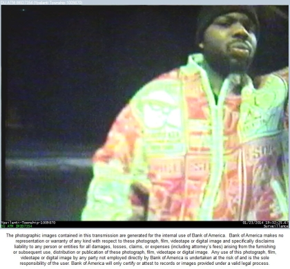 The suspect is seen at an ATM. (Photo courtesy of Michigan State Police)