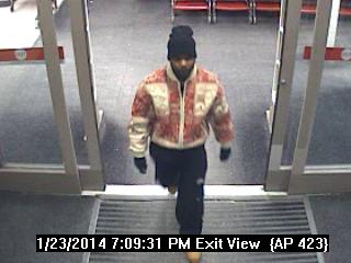 The suspect is seen entering a Target store. (Photo courtesy of Michigan State Police)