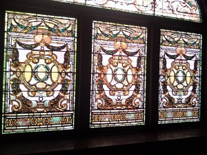 Stained glass windows at The Whitney