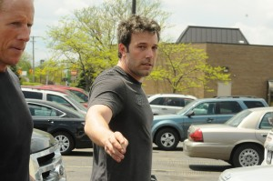The new 'Batman' Ben Affleck leaves a work out in Royal Oak. (Credit/Amy E. Powers)