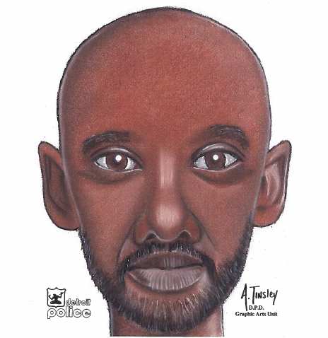 Police release this composite image of a serial  flasher. (credit: Detroit Police)