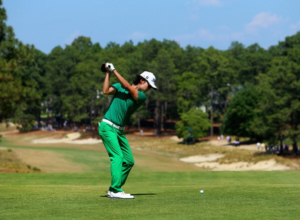 Kevin Na during the final round of the 114th U.S. Open. (credit: Andrew Redington/Getty Images)