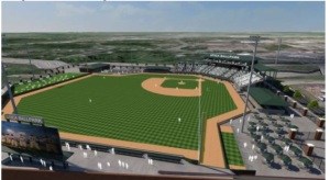 Macomb County officials unveiled plans for a minor league ballpark in Utica. (Source: Macomb County.)