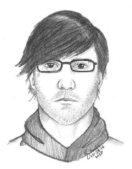 A compoiste image of a man who may have been seen with Chelsea Bruck. (credit: Monroe County Sheriff's Office)