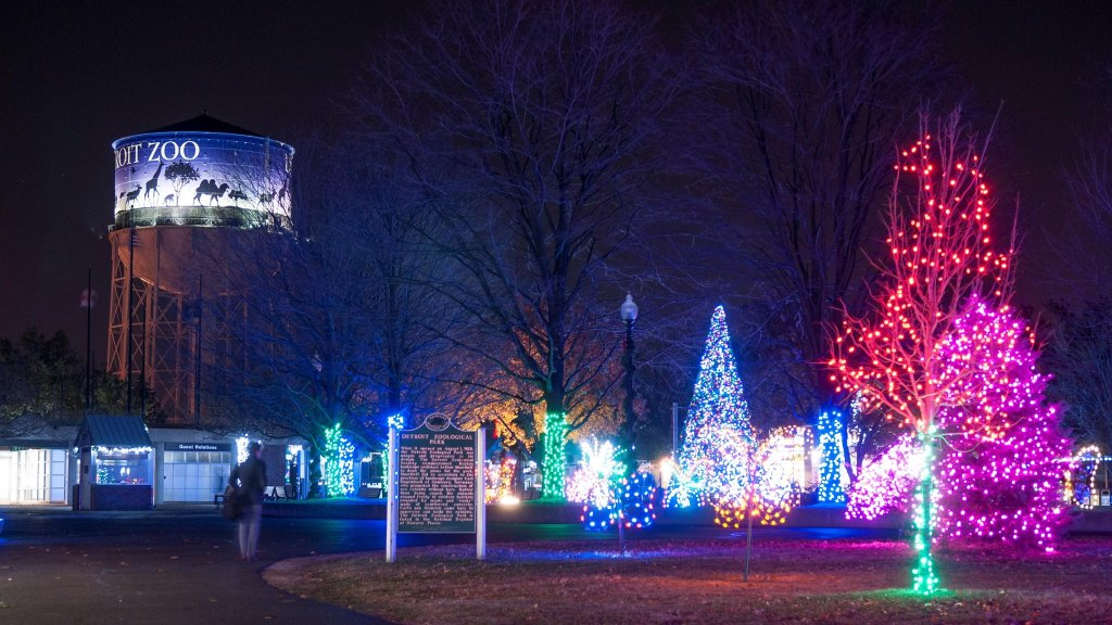 Detroit Zoo Christmas Lights.Detroit Zoo Flips The Switch On Wild Lights Nov 22 Cbs