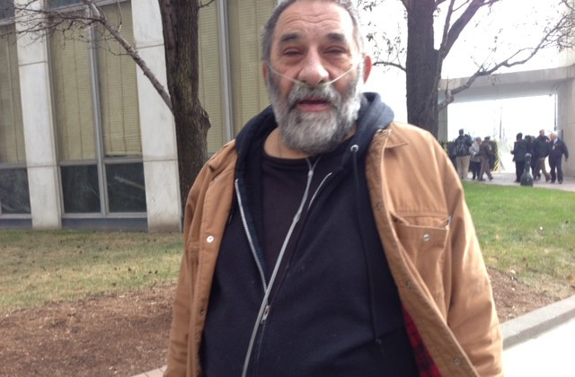 On oxygen, Richard Swartz needed help getting out of City Hall from the 12th floor. (credit: Vickie Thomas/WWJ)