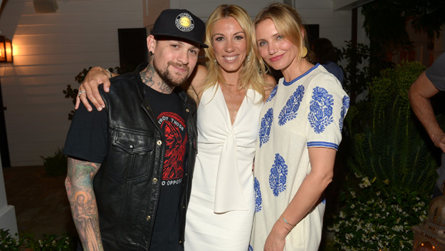 Cameron Diaz and Benji Madden (Photo by Jason Kempin/Getty Images)