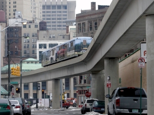 Detroit People Mover (credit: J.D. Pooley/Getty Images)