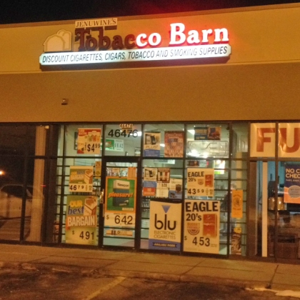 A robbery was reported at this tobacco shop in Chesterfield Township on Jan. 21, 2015. (credit: Mike Campbell/WWJ Newsradio 950)