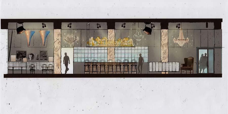 A rendering of the interior of Central Kitchen + Bar (credit: Ignition Media Group)