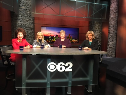 """Florine Mark, Denise Ilitch, Terry Barclay and host Carol Cain talk about women in business, politics and sports on """"Michigan Matters."""" The programs  airs 11:30 am Sunday on CBS 62. (credit: Ken Bryant/CBS 62)"""