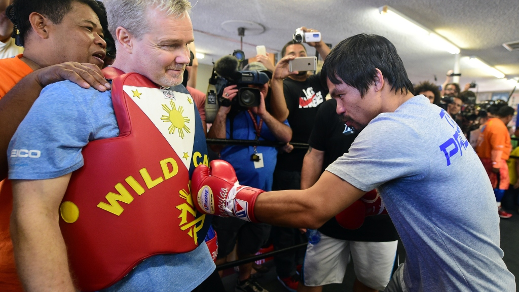 Pacquiao, Roach Scheme On Plan For Mayweather's Defense – CBS Detroit