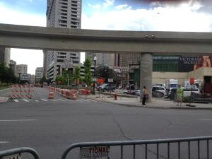 Many areas of downtown Detroit were closed off and shut down for months while filming progressed for the monumental new film. Photo Credit: Michael Ferro
