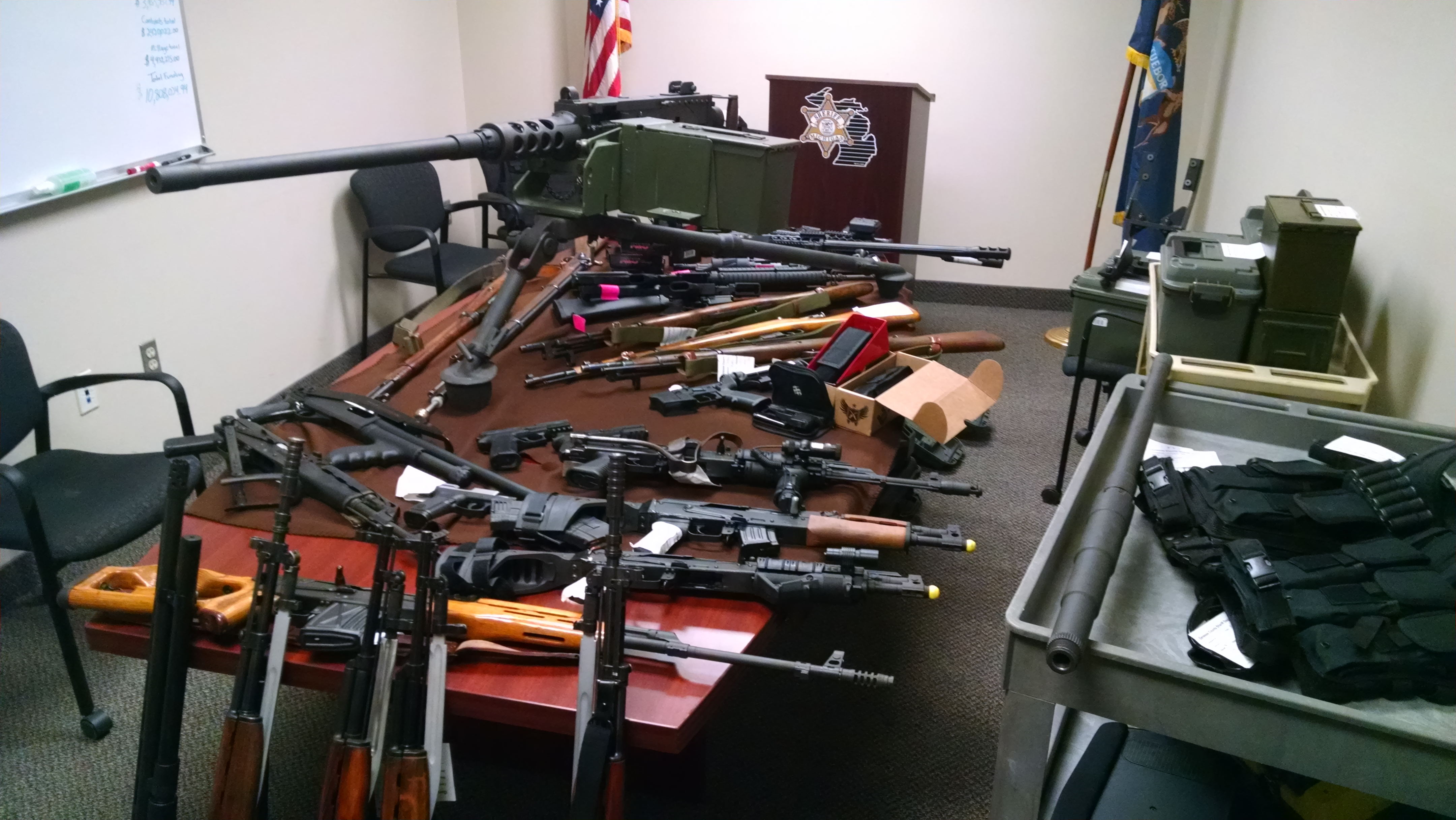 Weapons confiscated from the home of Steven and Sarah Nicks (credit: Genesee County Sheriff's Office)