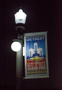 A $50,000 donation from Tom Gores and Platinum Equity to the Chevrolet Detroit Belle Isle Grand Prix led to the replacement and addition of energy efficient lights on the MacArthur Bridge which connects Belle Isle to the mainland. (Photo courtesy Chevrolet Detroit Belle Isle Grand Prix)