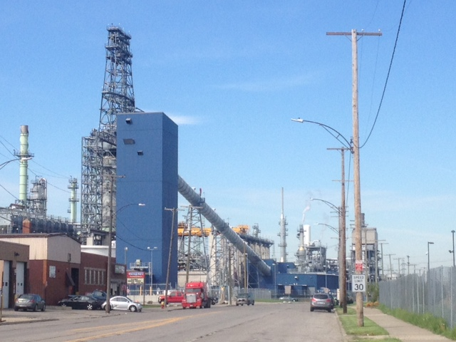 Marathon oil refinery in Southwest Detroit. credit: Mike Campbell/WWJ