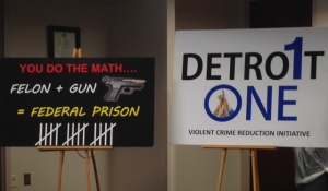 Authorities In Detroit Announce Initiative To Cut Gun Crime. (photo: Vickie Thomas/WWJ)
