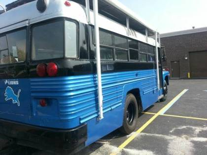 $5500 Will Buy You This Custom Vintage Beast — Lions Tailgate Bus