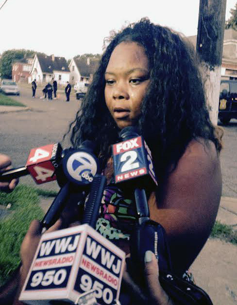 Marsayvia Jackson, a friend of a young man killed over the weekend. (credit: Ron Dewey/WWJ)