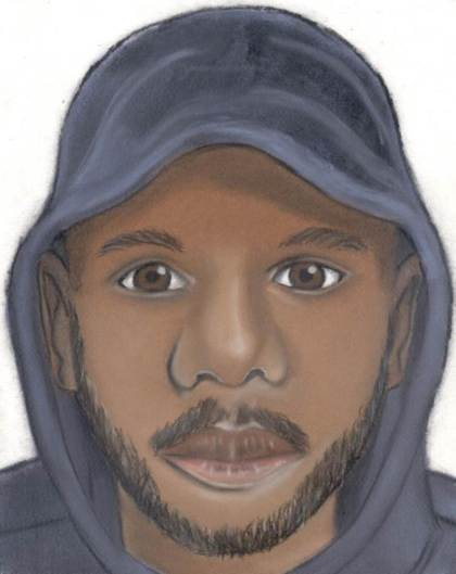 A composite sketch of one of the suspects (credit: Detroit Police)