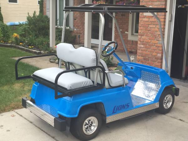 You Know You Want To Roll Around In This Custom Lions Golf Cart On Craigslist Cbs Detroit
