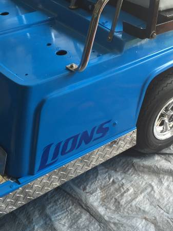 You Know You Want To Roll Around In This Custom Lions Golf