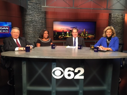 Ken Rogers – Automation Alley, Dana McAllister – Cuban Chamber of Commerce, Noel Nevshehir – Automation Alley and Michigan Matters host Carol Cain appear on the roundtable. (credit: Edmond Armstrong/CBS 62)