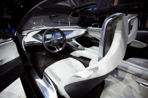 DETROIT, MI - JANUARY 10: The interior of the Buick Avista Concept is shown at the Buick reveal on the eve of the 2016 North American International Auto Show January 10th, 2016 in Detroit, Michigan. The NAIAS runs from January 11th to January 24th and will feature over 750 vehicles and interactive displays. (Photo by Bill Pugliano/Getty Images)