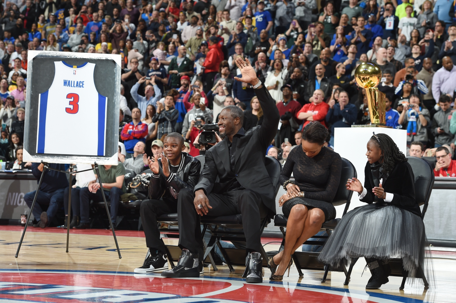Emotional Ben Wallace Watches His Jersey Retired In Front