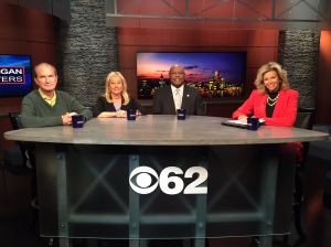 "Jason Vines, Denise Ilitch, Cliff Russell join ""Michigan Matters"" Senior Producer/Host Carol Cain to talk about what's ahead in Flint's water crisis. Watch the show 11:30 am Sunday on CBS 62. (credit: Derek Fawaz/CBS 62)"
