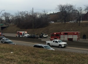 Accident on I-94 (Credit: WWJ Tipster/Jay Wash)