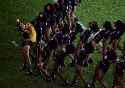 Beyonce performs during the Pepsi Super Bowl 50 Halftime Show at Levi's Stadium on February 7, 2016 in Santa Clara, California. (Photo by Harry How/Getty Images)