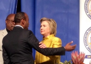 Hillary Clinton at NAACP dinner. (WWJ/Sandra McNeill)