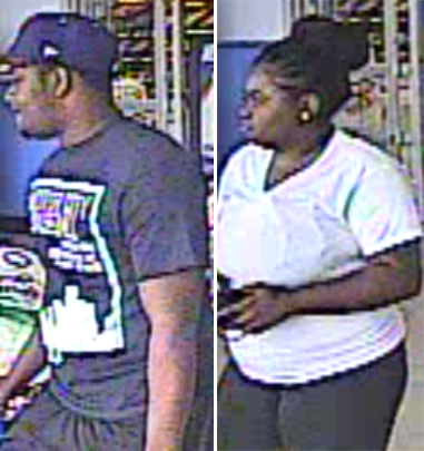 Police are trying to identify two suspects who are wanted for credit fraud and identity theft. (Credit: police handout)