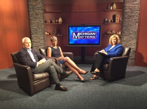 "Eric Larson and Faye Nelson with ""Michigan Matters"" Senior Producer/Host Carol Cain talk about Open Streets Detroit taking place next month, (credit: Zuri Cheathem/CBS 62)"